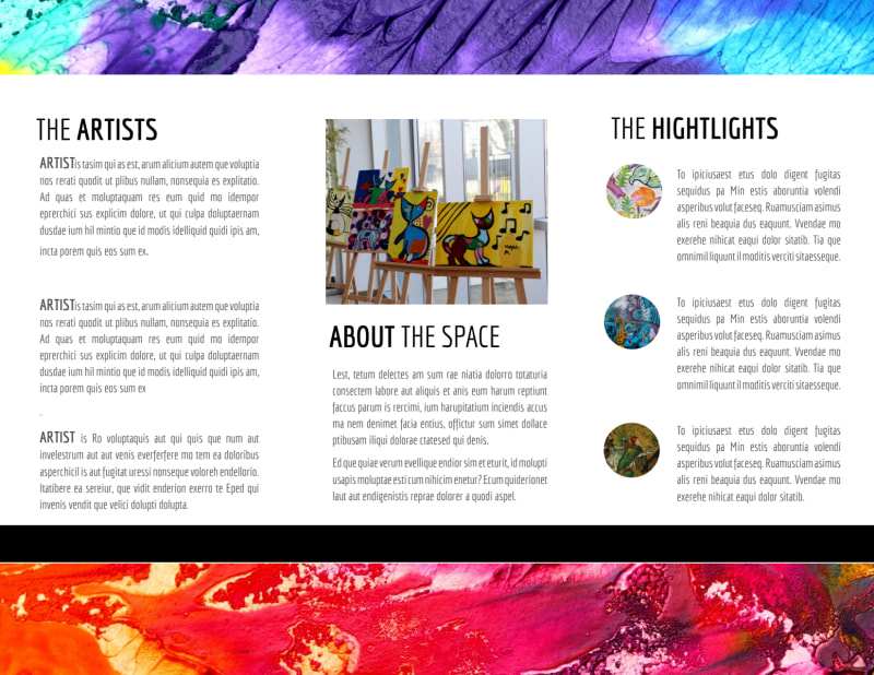 Art Gallery Brochure Template Preview 3