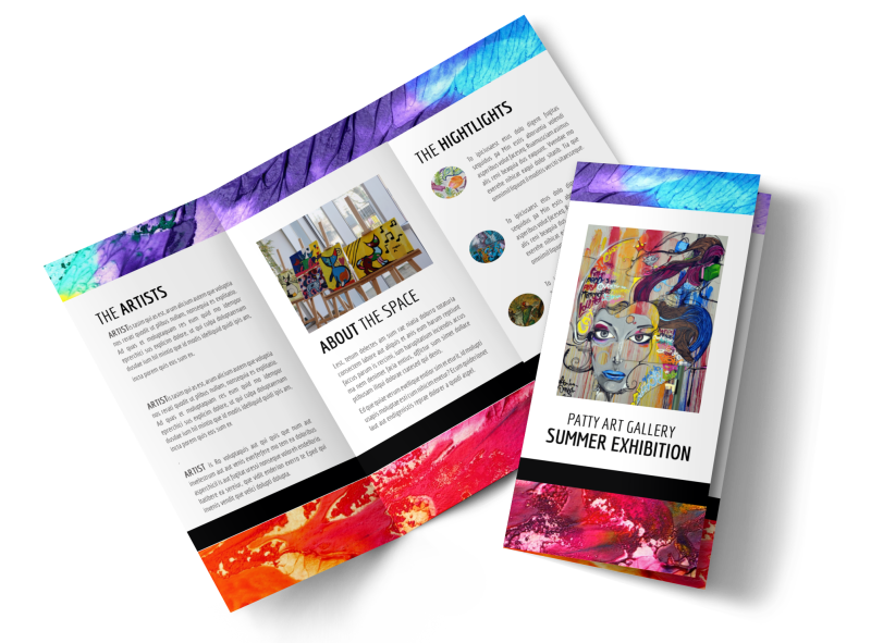 Art Gallery Brochure Template Preview 1
