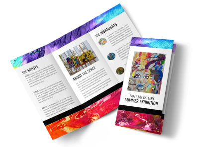 Art Gallery & Artist Tri-Fold Brochure Template