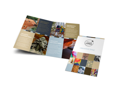 Art Gallery Bi-Fold Brochure Template