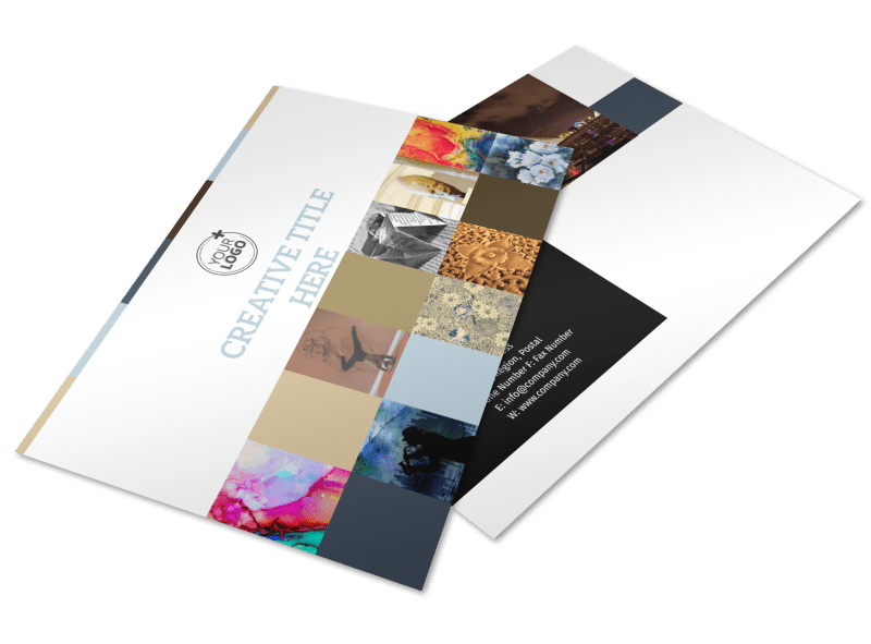 Art Gallery Postcard Template Preview 1