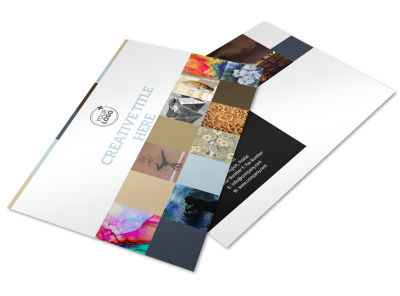 Art Gallery Postcard Template preview
