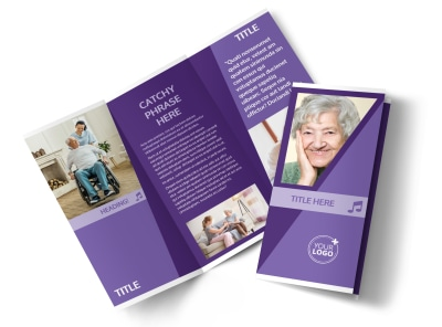 Assisted Living Facility Tri-Fold Brochure Template preview