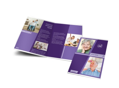 Assisted Living Facility Bi-Fold Brochure Template