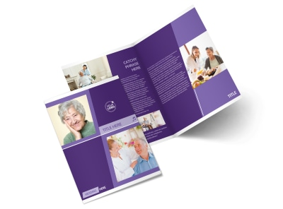 Assisted Living Facility Bi-Fold Brochure Template 2