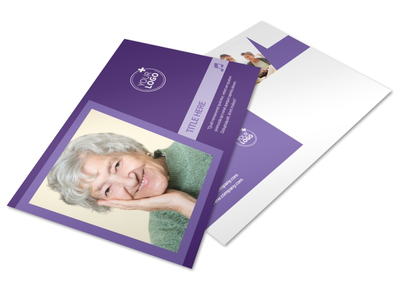 Assisted Living Facility Postcard Template