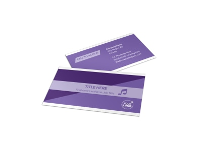 Assisted Living Facility Business Card Template preview