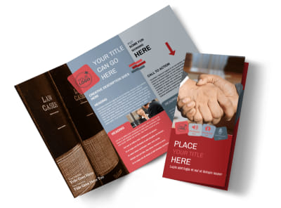 Attorney At Law Tri-Fold Brochure Template preview