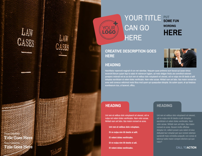 Attorney At Law Brochure Template Preview 3