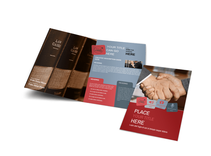 Attorney At Law Brochure Template Preview 1