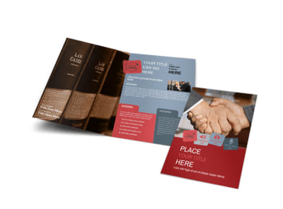 Attorney At Law Bi-Fold Brochure Template preview