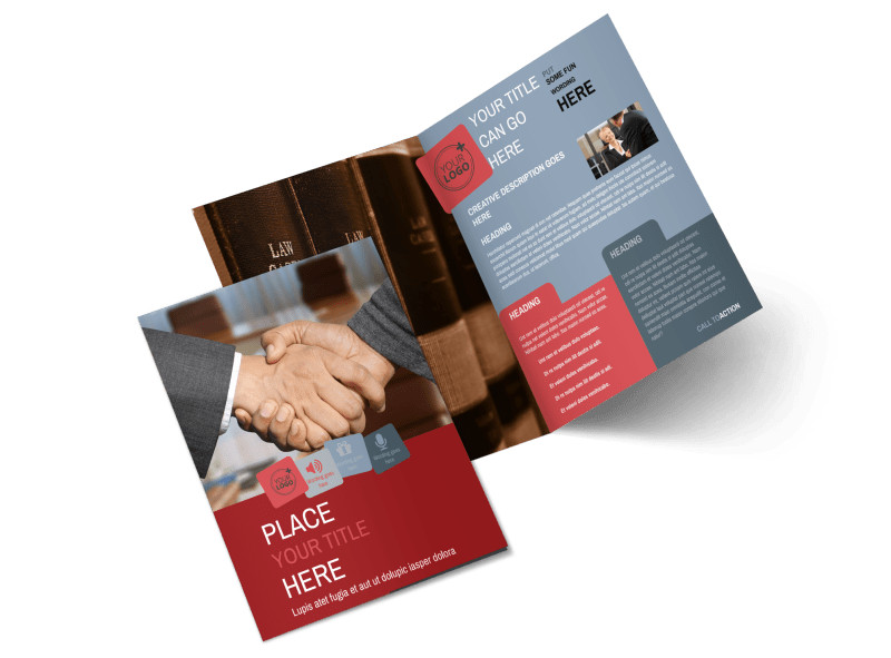 Attorney At Law Bi-Fold Brochure Template 2