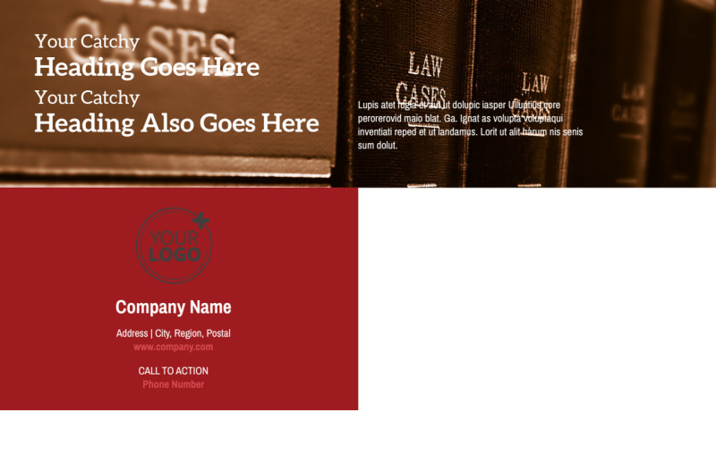Attorney At Law Postcard Template Preview 3