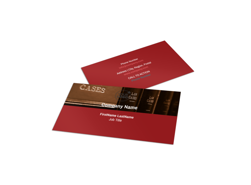 Attorney At Law Business Card Template Preview 1