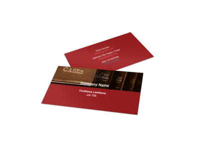 Attorney At Law Business Card Template preview