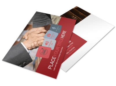 Attorney At Law Postcard Template 2