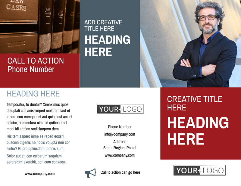 Attorney & Legal Service Brochure Template Preview 2