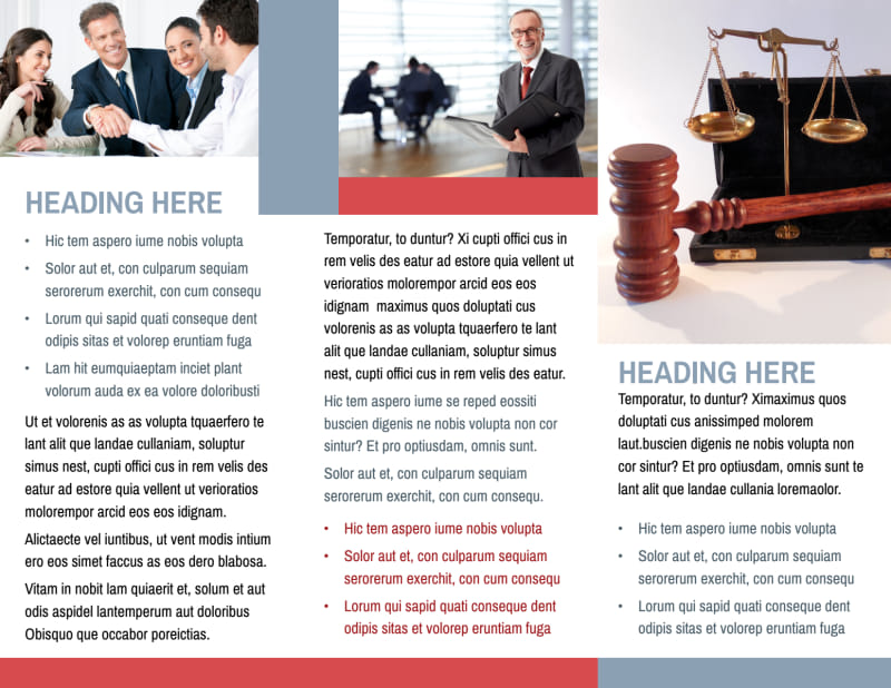 Attorney & Legal Service Brochure Template Preview 3