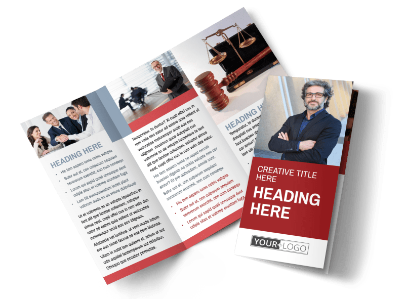 Attorney & Legal Service Brochure Template Preview 1