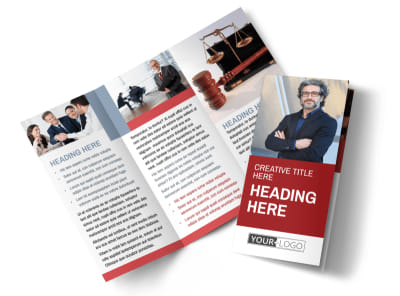 Attorney & Legal Service Tri-Fold Brochure Template preview