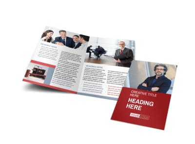 Attorney & Legal Service Bi-Fold Brochure Template preview