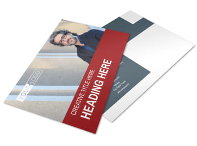 Attorney & Legal Service Postcard Template preview