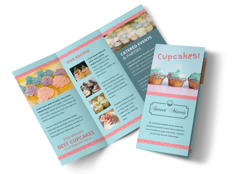 Cupcake Bakery Brochure Template Preview 4