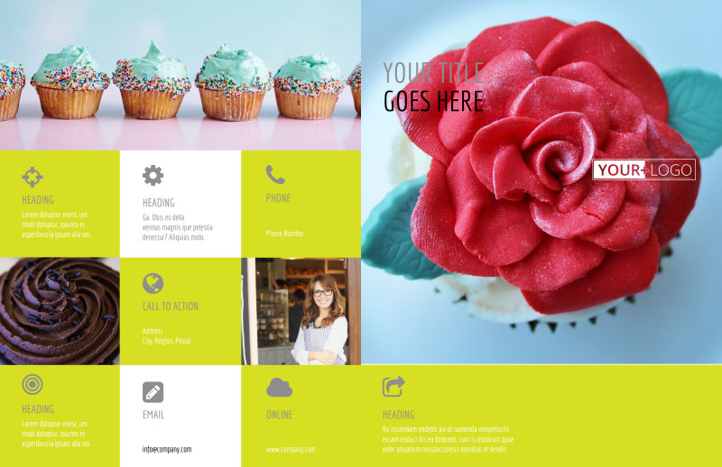 Cupcake Bakery Brochure Template Preview 2