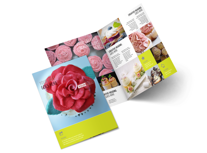 Cupcake Bakery Brochure Template Preview 1
