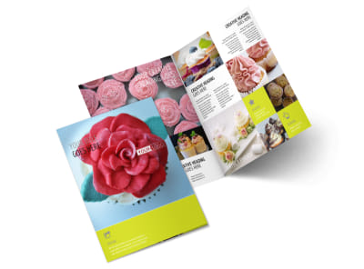 Cake Shop & Bakery Bi-Fold Brochure Template 2 preview