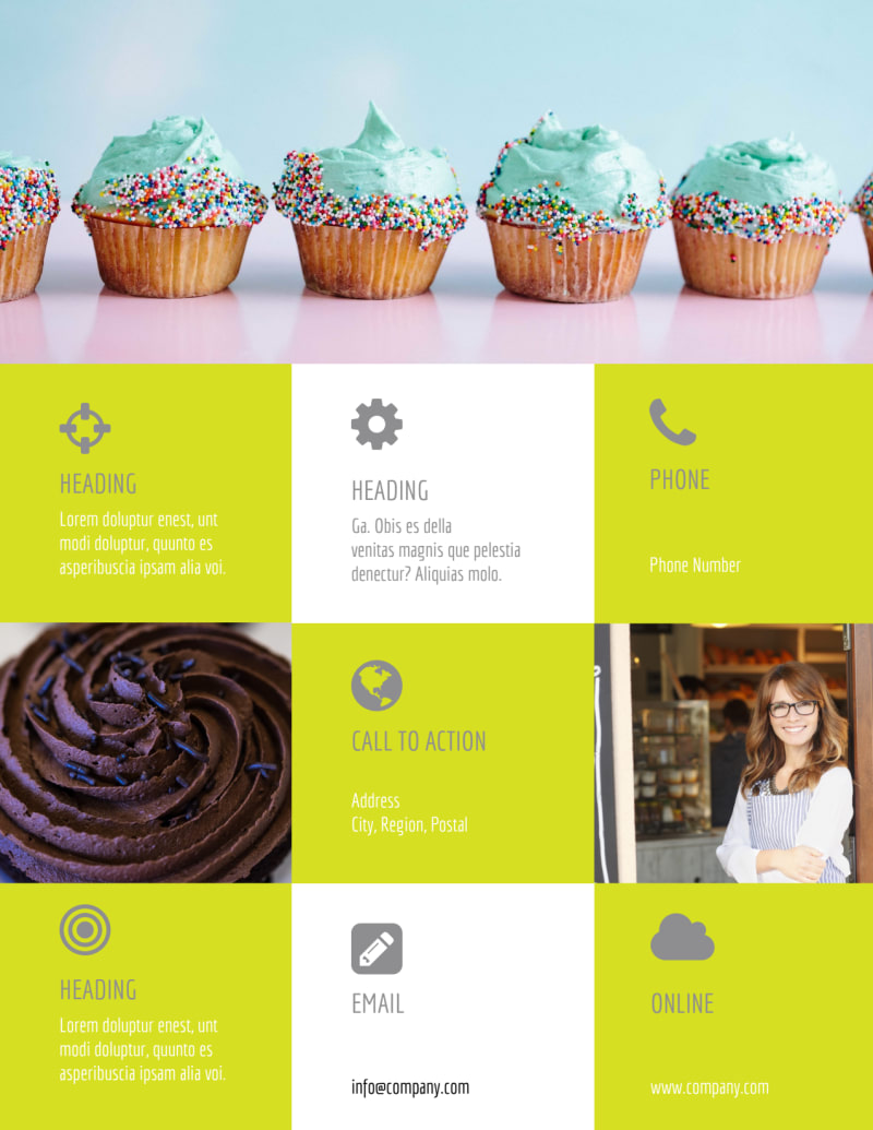 Cupcake Bakery Flyer Template Preview 3