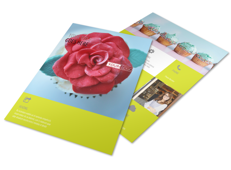 Cupcake Bakery Flyer Template Preview 1
