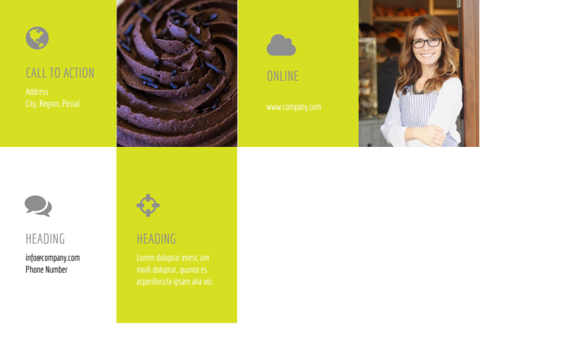 Cupcake Bakery Postcard Template Preview 3