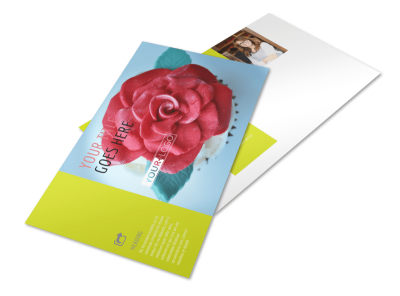 Cake Shop & Bakery Postcard Template preview