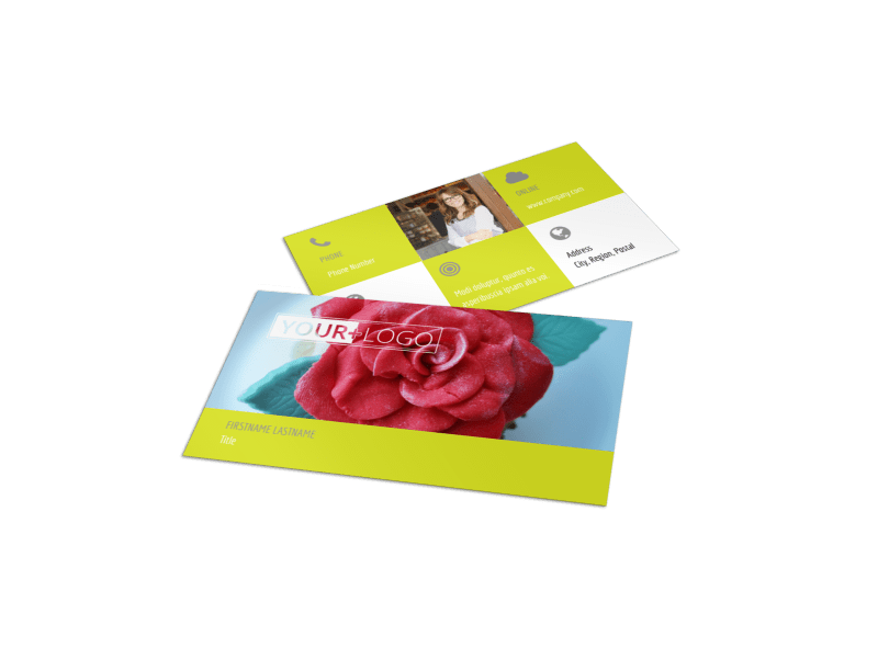 Cupcake Bakery Business Card Template Preview 1