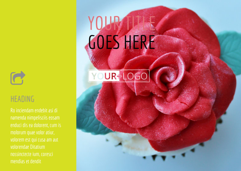 Cupcake Bakery Postcard Template Preview 2
