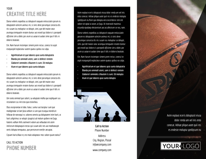 Weekend Basketball Camp Brochure Template Preview 2