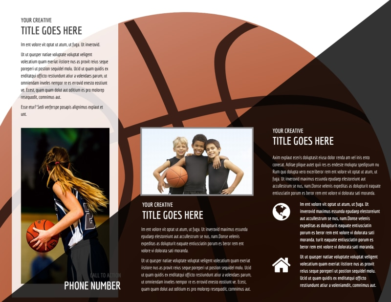 Weekend Basketball Camp Brochure Template Preview 3