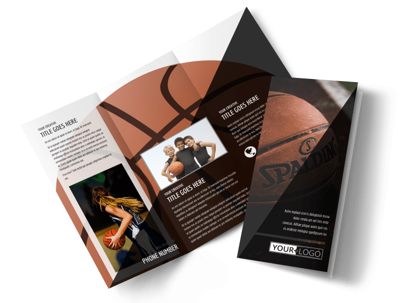 Weekend Basketball Camp Brochure Template Preview 1