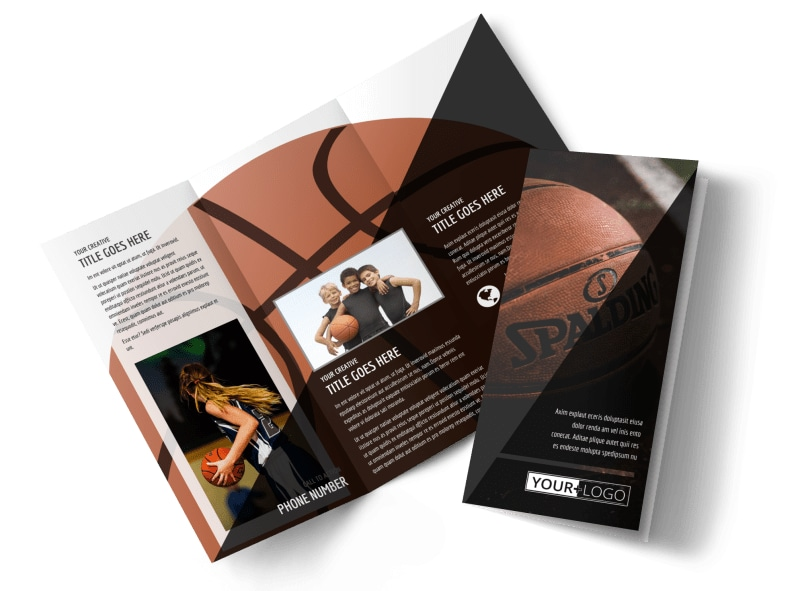 Weekend Basketball Camp Brochure Template – Sports Brochure