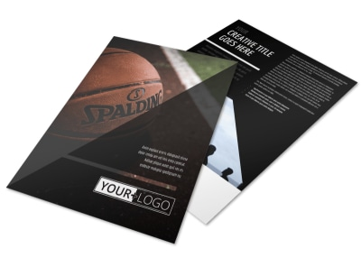 Basketball Sports Camp Flyer Template preview
