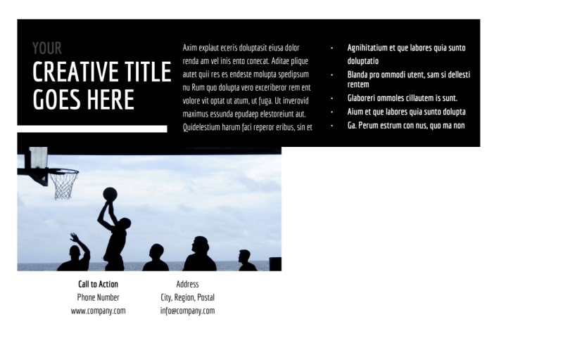 Weekend Basketball Camp Postcard Template Preview 3