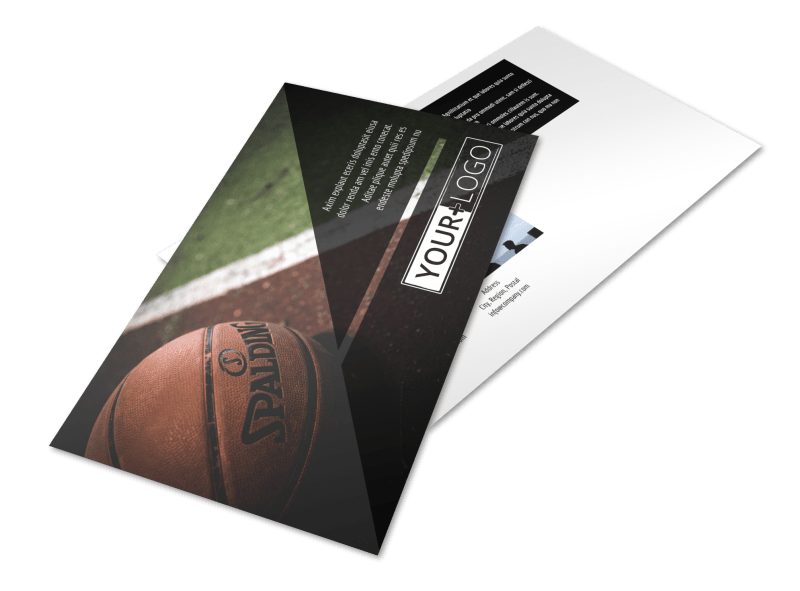 Weekend Basketball Camp Postcard Template Preview 1