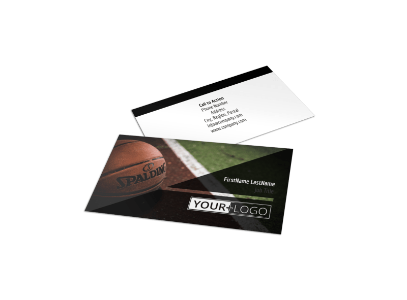 Weekend Basketball Camp Business Card Template Preview 1