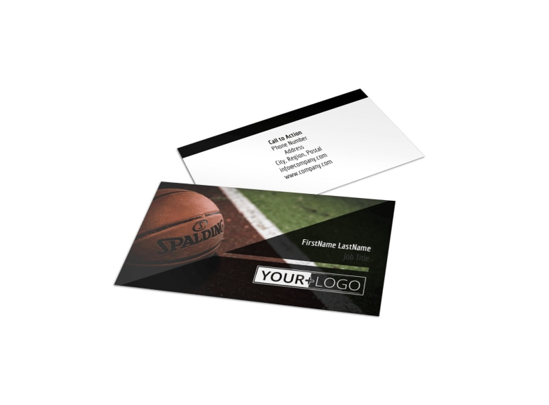 Weekend Basketball Camp Business Card Template Preview 4