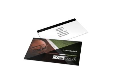 Basketball Sports Camp Business Card Template