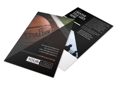 Basketball Sports Camp Flyer Template 3