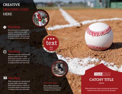 Baseball Camp Brochure Template Preview 1