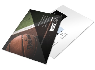 Basketball Sports Camp Postcard Template 2