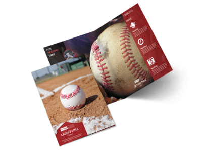 Baseball Sports Camp Bi-Fold Brochure Template 2